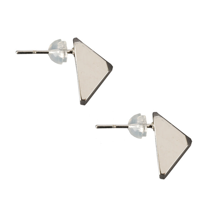 Triangle silver earring