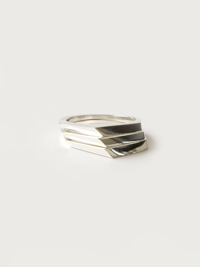 Triangle 3 rings silver