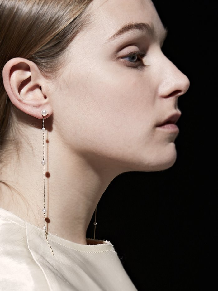 unbalance pearls earring - a piece(2)