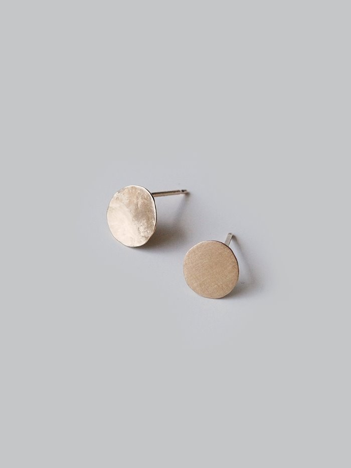 textured small gold earring