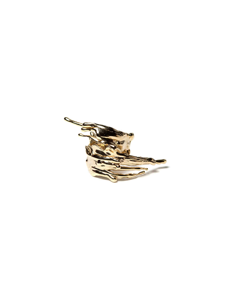 Drippings wind ring (14k gold)