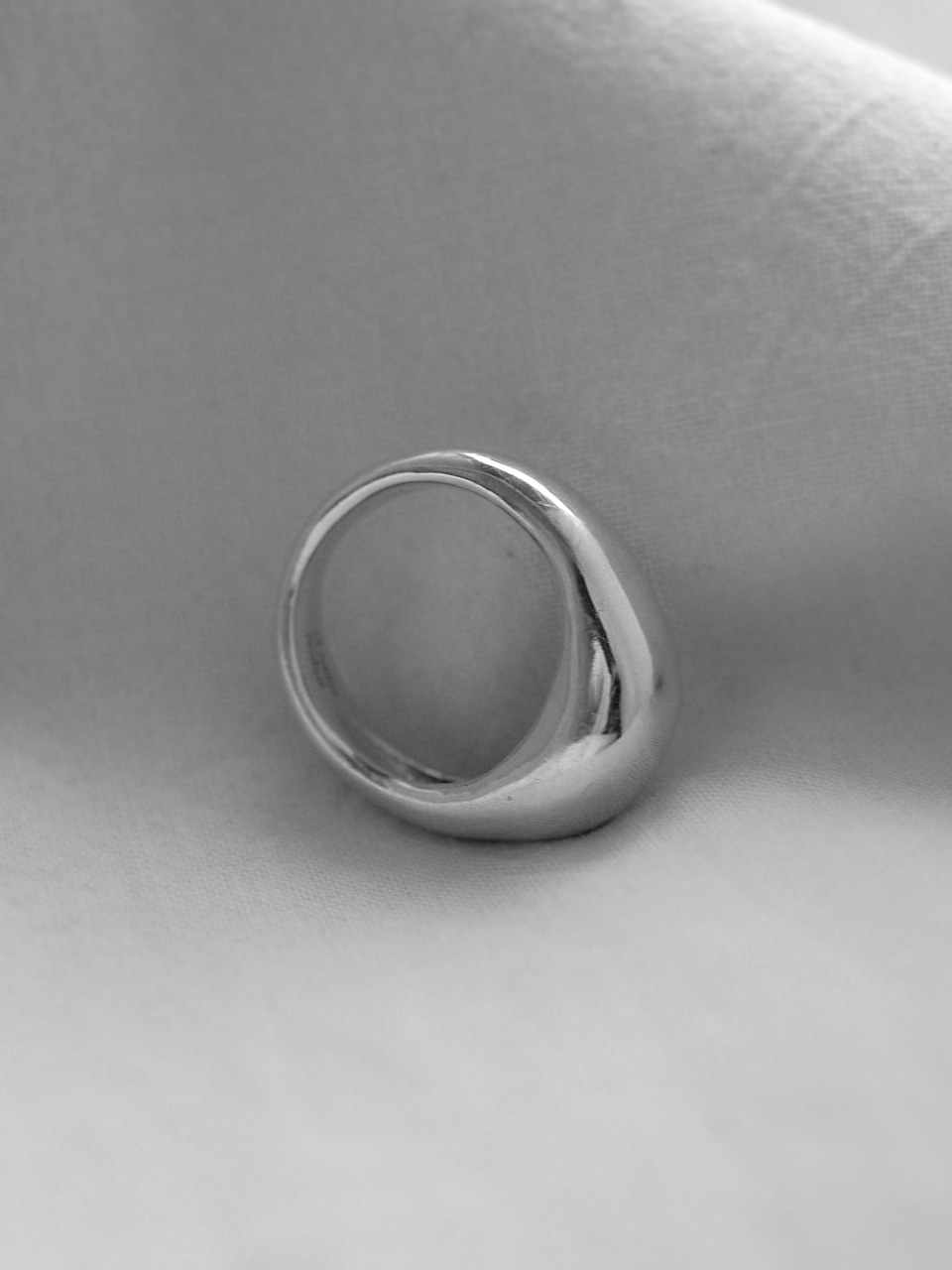 Bold silver ring